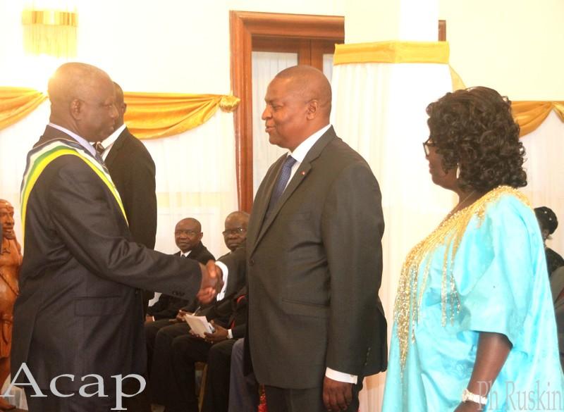Le président Faustin-Archange Touadéra reçoit les vœux de nouvel an des corps constitués de l'Etat