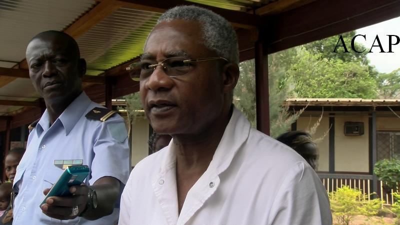 Le professeur Gody, directeur du complexe pédiatrique de Bangui