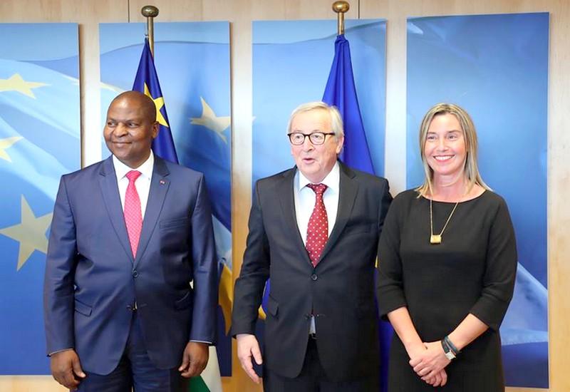 Le Président Touadéra lors d'une photo officielle à Bruxelles