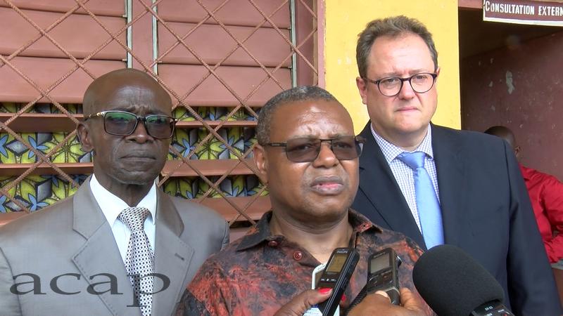 Pierre Somsé à Boali pour le lancement des comptes nationaux de santé, le 12 mars 2019
