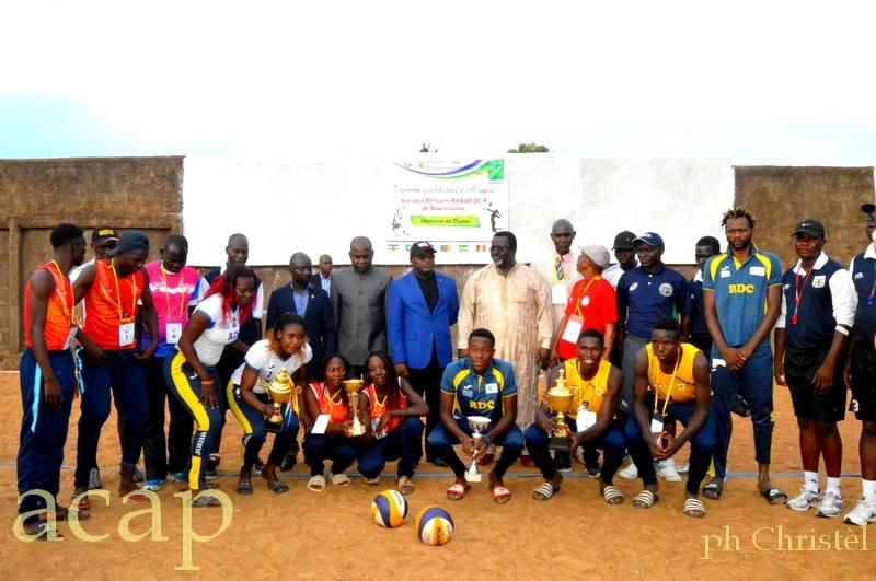 Les dirigeants de Beach-Volley et les athlètes