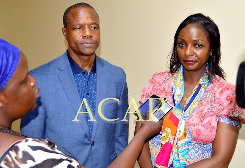 M. Buti Kalé du HCR et la ministre Virginie Mbaïkoua