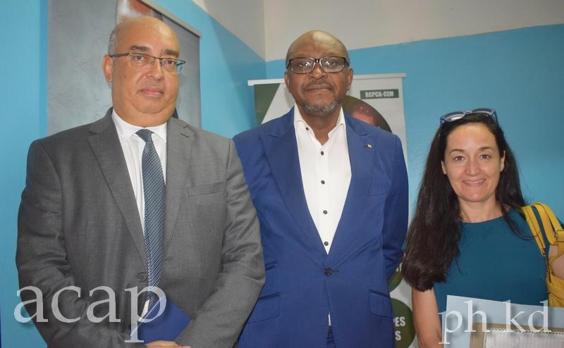 Salah Khaled et Ange Maxime Kazagui, au sortir de leur entretien