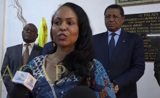 Daniel Ona Ondo (à droite), lors d'une réunion de la Commission de la CEMAC à Bangui en 2018 (archives ACAP)