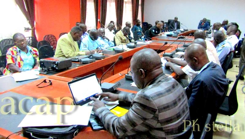 le colonel Achille Ismaël Kouagou Koungoundo, préside les travaux de validation du plan national de communication sur la RSS