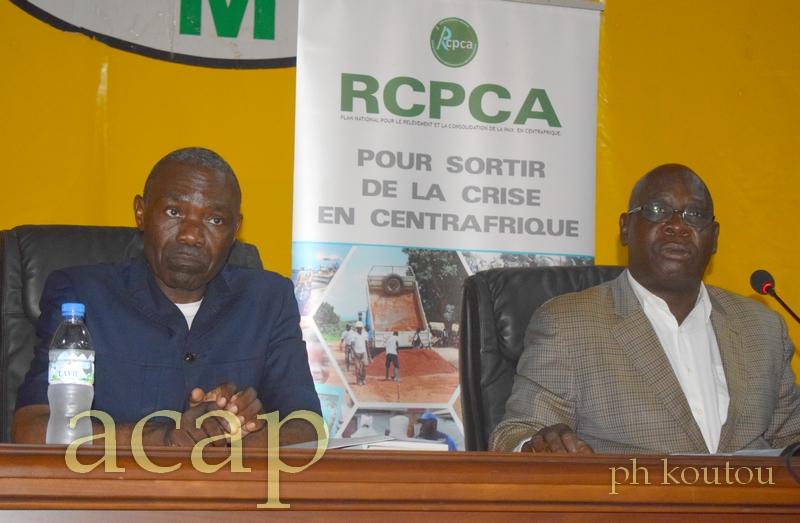 Atelier semestriel de validation du rapport du Plan de Relèvement et de consolidation de la Paix et du cadre de l'Engagement mutuel (RCPCA-CEM).
