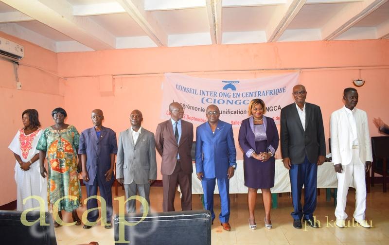 Mise en place à Bangui d'un nouveau bureau  du Conseil inter ONG en Centrafrique (CIONGCA)