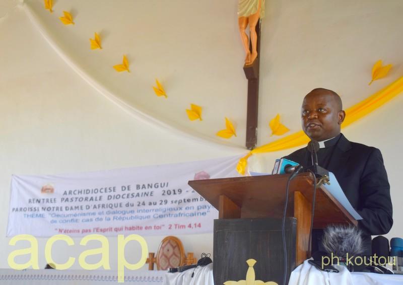 Ouverture à Bangui de la rentrée pastorale diocésaine 2019-2020