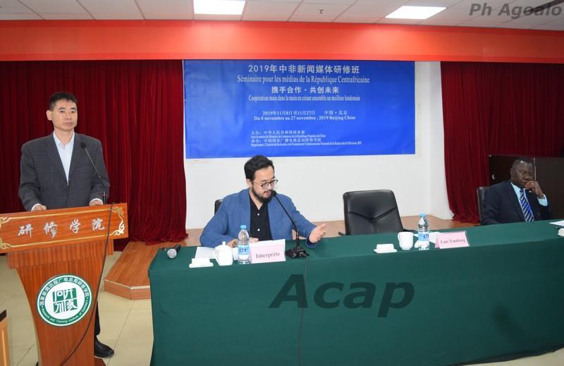 Les médias centrafricains en séminaire de formation à l'Institut NRTA en Chine
