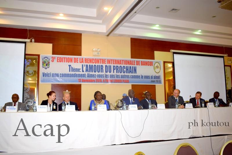 Ouverture des Travaux de la rencontre Internationale de Bangui