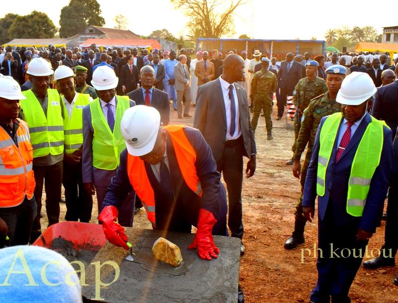 pose de la première pierre de l'IAC de Bangui