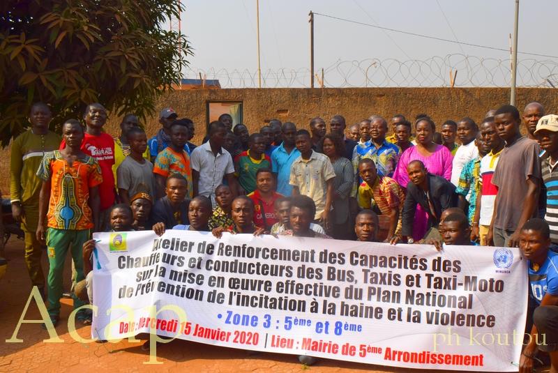 Les conducteurs du 5è et 8è arrondissement sensibilisés sur l'incitation à la haine