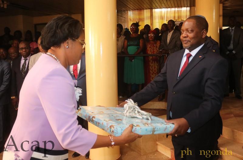Présentation des vœux du nouvel  an au Premier ministre Firmin Ngrébada