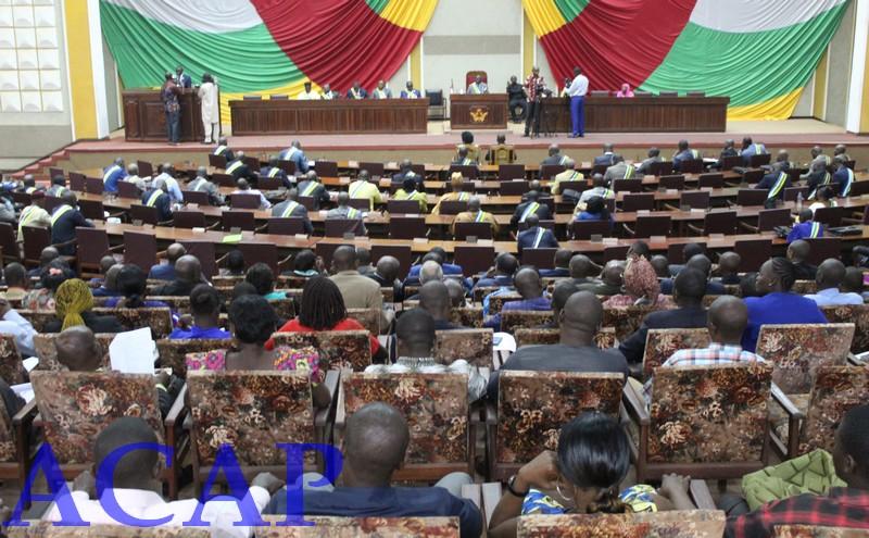 Ouverture à Bangui de la 1ère session extraordinaire 2020 de l'Assemblée nationale