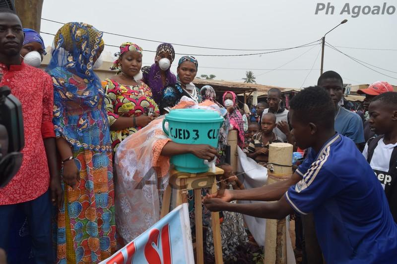 La jeunesse du 3ème arrondissement de Bangui s'organise contre le coronavirus
