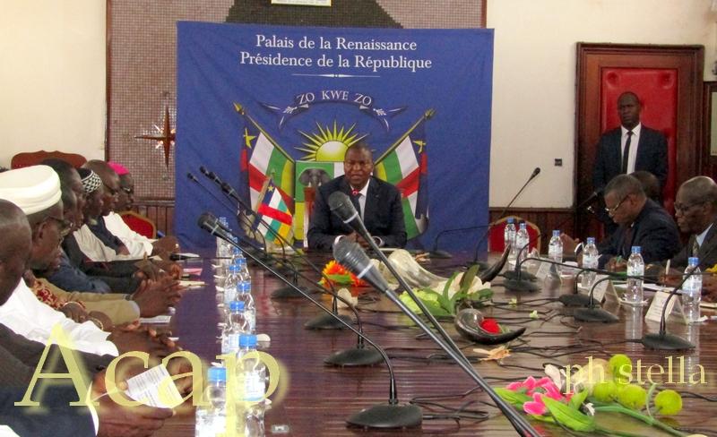 Le Président Faustin-Archange Touadéra consulte les leaders religieux au sujet du coronavirus