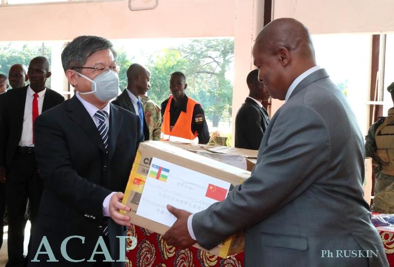 La Chine octroie un important lot des matériels sanitaires à la République Centrafricaine
