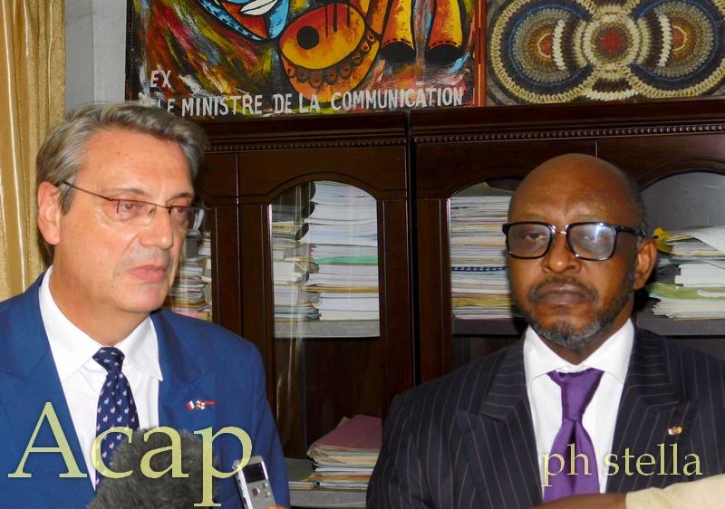 Le ministre de la Communication et des Média reçoit le nouvel ambassadeur de France en RCA