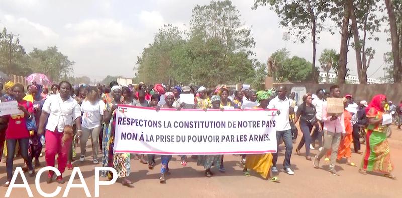 Une marche pacifique pour la paix en République Centrafricaine