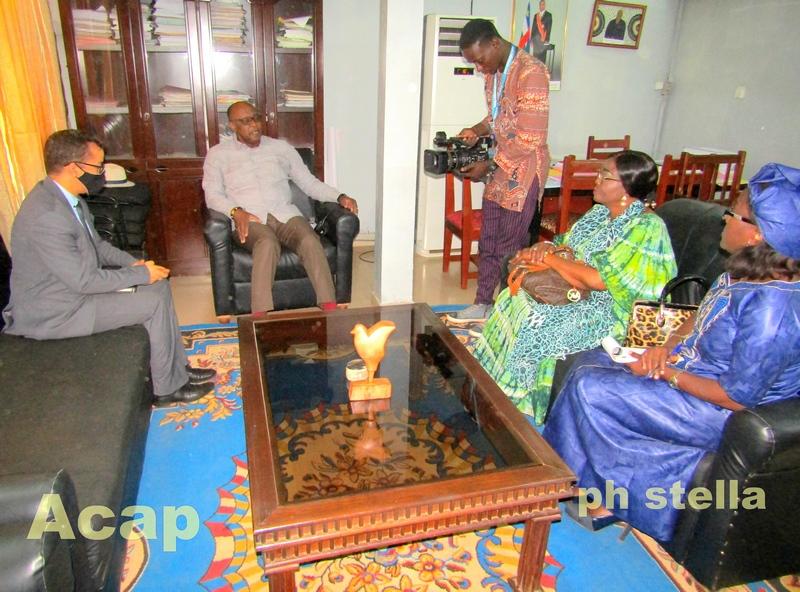 Le ministre Ange Maxime Kazagui reçoit une délégation de la téléphonie mobile Moov-Africa Centrafrique