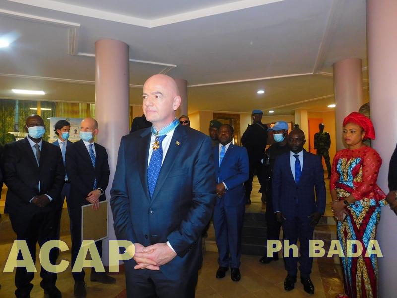 Gianni Infantino déclare que le football peut contribuer  à consolider l'unité, la paix et la solidarité en Centrafrique