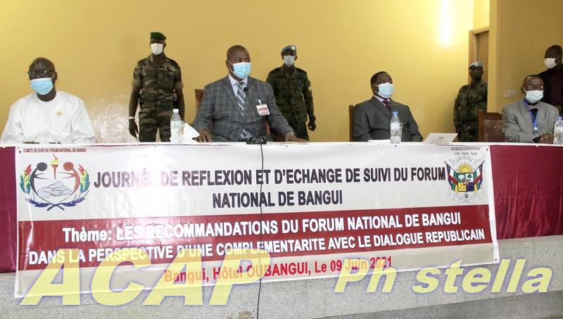 Journée de réflexion pour la préparation du dialogue en Centrafrique