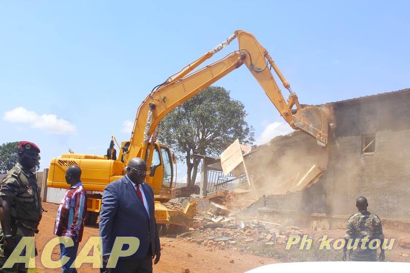 Opération de déguerpissement des occupants illégaux sur la zone réservée de Ngaragba
