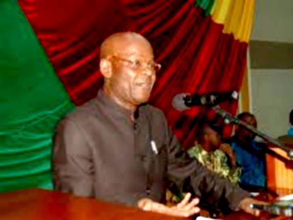 Laurent Gomina-Pampali, longtemps parlementaire et aujourd'hui candidat  déclaré à la prochaine présidentielle