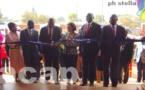 Le président de la République, Faustin Archange Touadéra inaugure un centre socioculturel à Boy-Rabe
