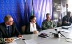 La Cheffe de la Délégation de l'Union Européenne, Samuela Isopi, pendant sa conférence de presse