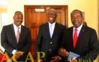 Le ministre Félix Moloua reçoit l'ambassadeur d'Afrique du Sud
