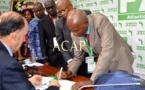 Scène de signature du protocole de création du FDIAAP