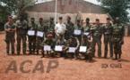 Clôture d'une formation des forces armées centrafricaines sur le déminage