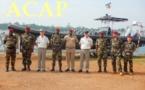 Le bataillon amphibie de l'armée centrafricaine reçoit la visite du général français Didier Brousse