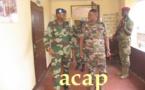 Le général sénégalais Joseph Mamadou Diop en visite à l'état-major des forces  armées centrafricaines