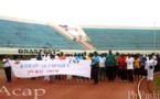 Une marche olympique des travailleurs à Bangui pour marquer la fête du travail