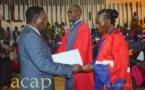 Deux promotions de ressortissants de la Faculté de médecine de l'université de Bangui prêtent serment
