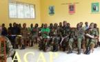 Le colonel Yarafa satisfait de la vulgarisation du code de justice militaire dans la Nana-Mambéré