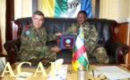 Visite du général Herminio Maio à l'état-major des armées centrafricaines
