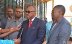 Le ministre Ange Maxime Kazagui s'entretient avec une délégation de la Société de Presse et d'Edition du Cameroun en visite de travail à Bangui