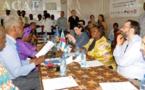 La Ministre Aline Gisèle Pana et l'Ambassadrice Samuela Isopi visitent les centres d'écoute de Bangui
