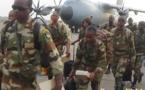 Des éléments des forces spéciales centrafricaines en fin de stage au Gabon