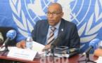 Le Porte-parole Vladimir Monteiro présente les activités réalisées par la MINUSCA