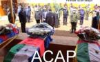 Le Président Touadera rend un dernier hommage aux soldats tombés à Besson