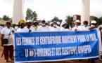 Les femmes centrafricaines marchent pour la paix
