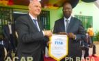 Le Président de la Fédération Internationale de Football Association à Bangui pour avancer les dossiers en cours