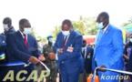 Inauguration d'un immeuble dénommé l'Hôtel des impôts à Bangui