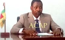 Le président du PUR, Eddy Symphorien Kparékouti
