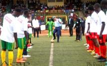 Deux des clubs phares du championnat national de football, le Diplomate football club du 8ème arrondissement de Bangui (g) et l'As Tempête Mocaf (archives ACAP)
