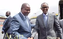 Arrivée à Bangui du Président de la République du  Rwanda Paul kagamé
